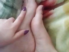 Girlfriend's smooth and sensational feet
