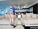 Expert Milf Cocksucker Sara Jay Is Pounded In Jean Skirt!