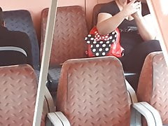 she touch her cunt in train (real) part I