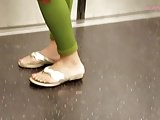 Candid mature redbone feet