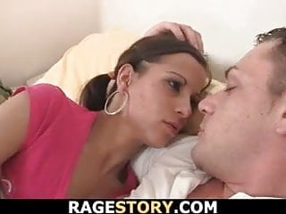 cheated bitch swallows his angry cock