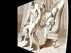 Erotické umění a hudba - výkresy Waldeck