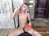 Lola strips naked and masturbates to orgasm