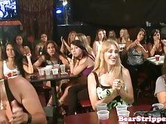 Hermosas chicas mamando osos strippers polla
