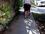 Candid street mexican milf follow
