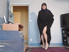 seksowny muzułmanin w hidżabie i jilbab