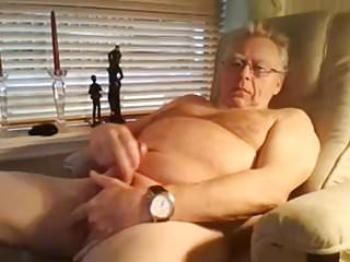 .grandpa cum on webcam.