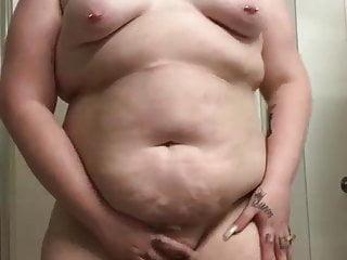 Bbw Teen Blonde video: Thick pawg stripping pt1