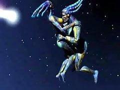 Plovoucí vesmírní cizinci, kteří ho mají ve vesmíru