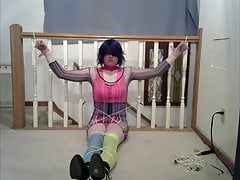 Cd Lisa In Numerous Restrain Bondage Stance (rave Outfit)s