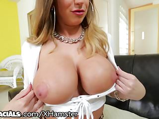 Milfs Handjobs Pov video: Brooklyn Chase's 2 Fav Things: Tit Fucking & Sucking Dick
