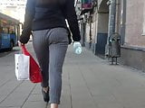 Nice ass is walking down the street