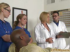 CFNM busty sestra interracially cumsprayed