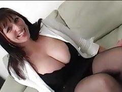 Big titty milf takes big cock