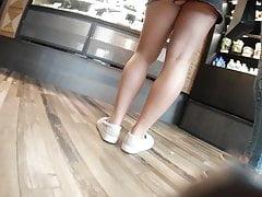 Blond spódniczka w spódniczce mini