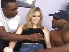Stacey takes on two black men