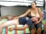 Big Tit Latina Breast Feeding Handjob