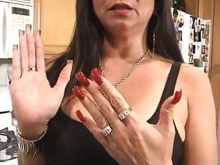 Red Talking Sexy Mature video: Latina Mature is talking about her sexy long red nails