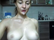 Amateur Webcam Teen is Facefucked to a Huge Sticky Facial
