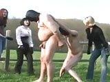 salves in a farm