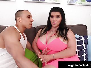 Big Tits Big Ass Drilled video: Cuban BBW Angelina Castro Drilled Doggy Style By Lucky Cock!