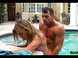 Horny MILF fucked in pool