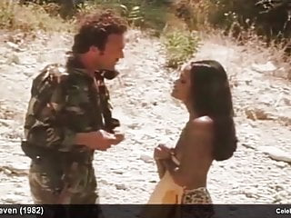 Vintage Celebrity Rough Sex video: Actress Laura Gemser frontal nude and rough sex in movie