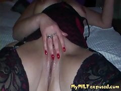 My MILF Exposed How Wife In Lingerie And Black Stockings