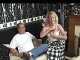 Blonde tart caned