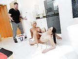 Dyked - Busty Blonde Wife Cheats On Husband WIh Maid