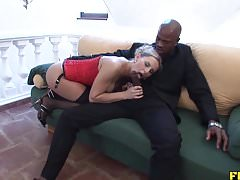 Ass riding that huge dildo and bbc