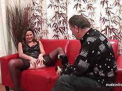 Harte anal Casting Couch Amateur Mama fisted und DP
