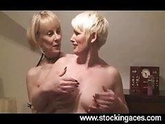 Stocking Milfs Hazel And Sally Together