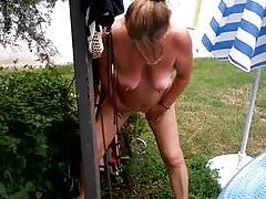Wife p in garden