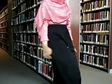 Hijab Girl Teasing In Library