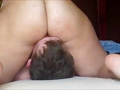 Horny BBW Facesittting - Smothering Him With her Pussy