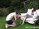 Mistress Zoe Dirty Feet - Clean My Feet Slave!