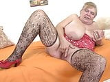 Huge tits, big fat ass and insatiable pussy. Granny Brunhild