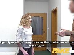 Agente falso Sexy modella francese bionda in blowj casting perfetto