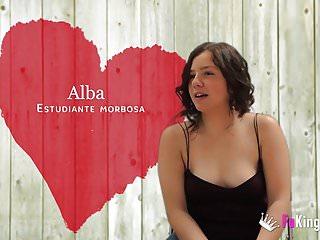 Big dicked black guy breaks Alba's teen pussy