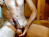 naked slave sounding cumshot peehole dilator