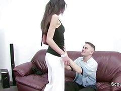 Fałszywy casting dla 38-letniej niemieckiej seksownej mamuśki Chistina