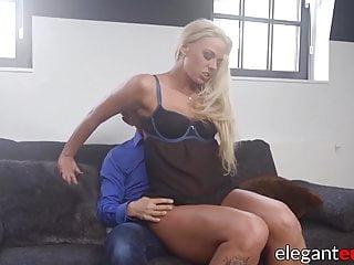 Blonde Blowjob Big Cock video: Nubile blonde girlfriend grinding on big cock before anal
