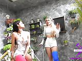 Fetisch-Concept.com - 2 girls with long cast leg Flowershop1