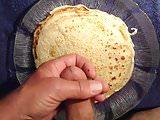 Cum on her pancake