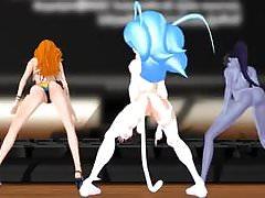 MMD Felicia, Nami e Widowmaker Sexy Twerk!