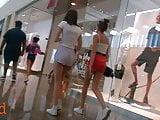 Mall Teens In Tiny Shorts