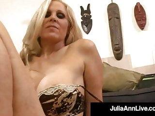 Lingerie Pov porno: Busty Horny Cougar Julia Ann Gets Her Magic Muff Plowed!