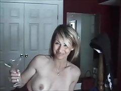 Amateur Frau anal und Muschi Creampie