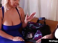 Curvy Nympho Nina Kayy & Phat Ass Latina Alycia Starr Fuck!